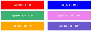 رنگ در CSS